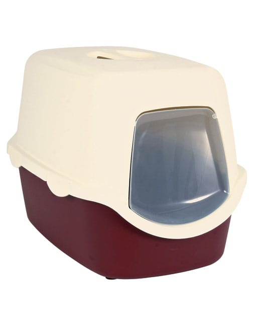 Trixie Vico Cat Litter Tray With Dome Bordeaux - Ofypets
