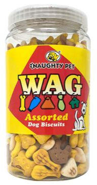 Naughty Pet WAG Assorted Dog Biscuits (All Breeds)