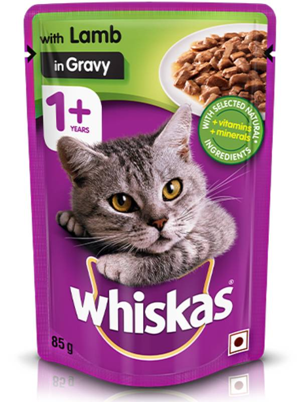 Whiskas Lamb in Gravy Cat Food Pouch 85g - Ofypets