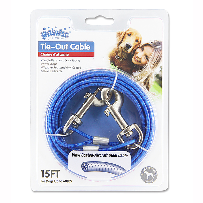 Pawise Tie-Out Cable (Medium)- Ofypets