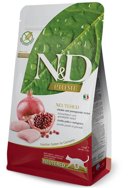Farmina N&D Prime Grain Free Chicken And Pomegranate Neutered Cat Food