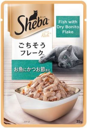 Sheba Wet Food Pouches Fish with Dry Bonito Flakes
