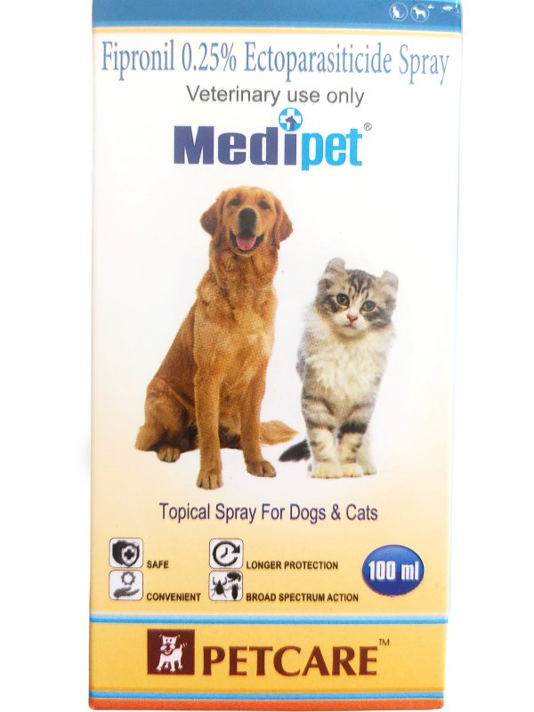 Petcare Medipet Tick and Flea Spray for Dogs and Cats