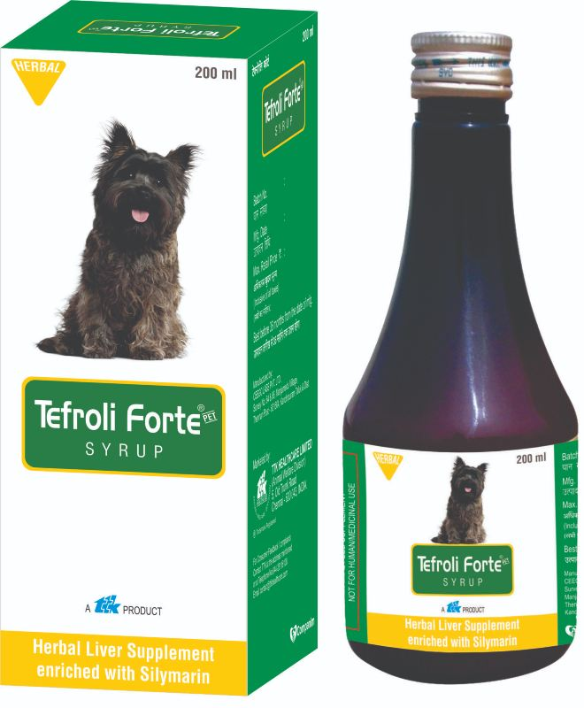 TTK Tefroli Forte Syrup Herbal Liver Supplement for Dogs and Cats