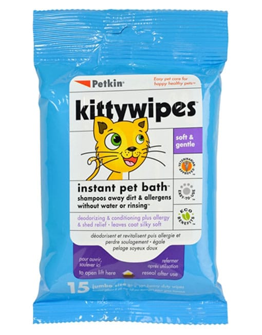 Petkin Kitty Wipes, 15 Wipes - Ofypets