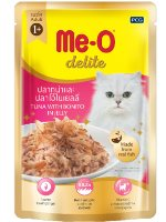 MeO Delite Wet Food Pouch, Tuna with Bonito in Jelly