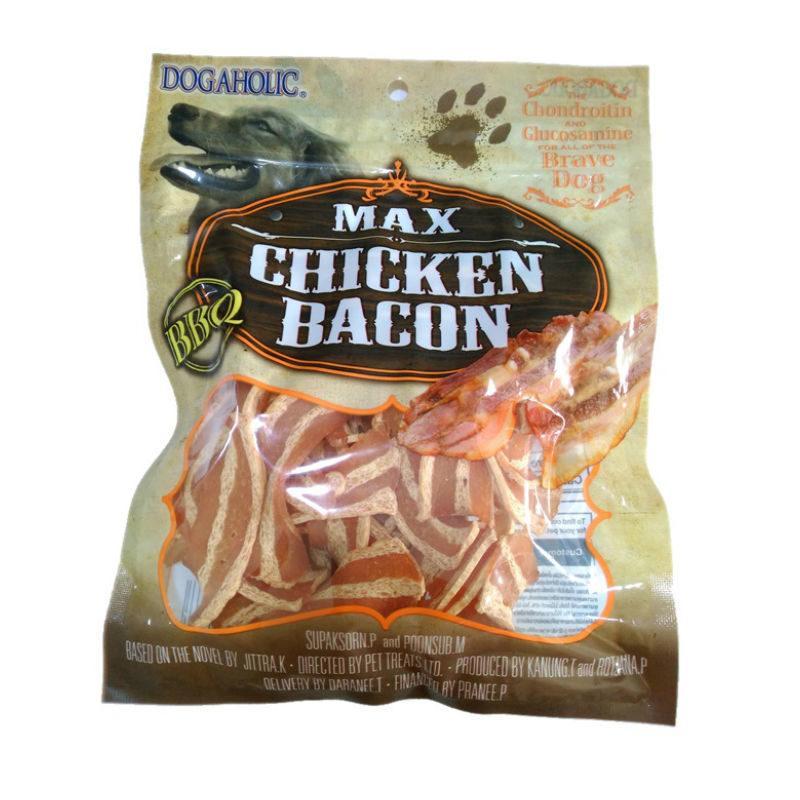Dogaholic Max Chicken Bacon BBQ Strips - Ofypets