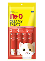 MeO Creamy Treats For Cat and Kitten Crab Flavor