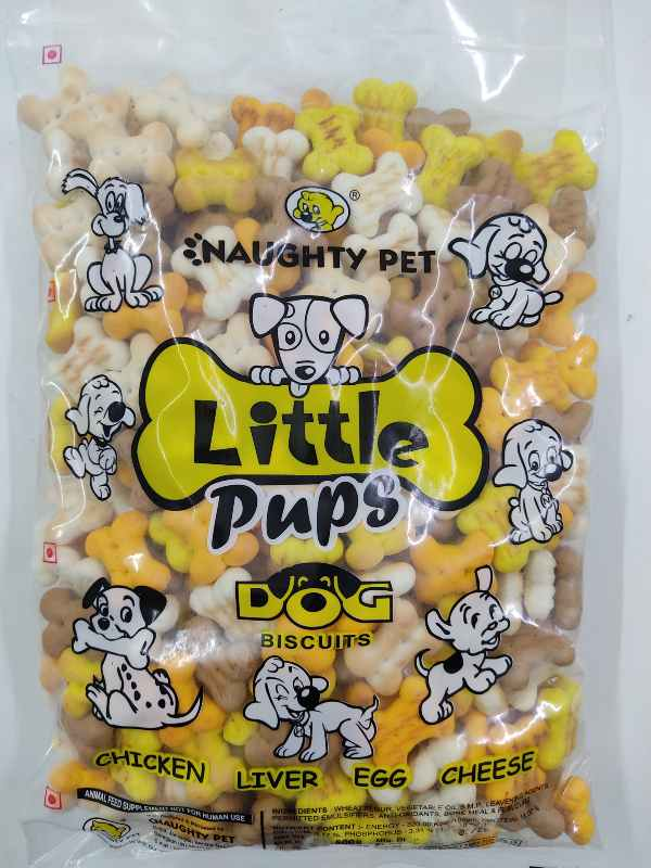 Naughty Pet Little Pups Chicken, Liver, Egg and Cheese Puppy Dog Biscuits
