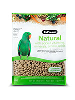 Zupreem Natural Bird Food for Parrots & Conures