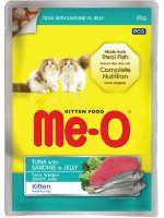 MeO Kitten Tuna with Sardine in Jelly Pouch