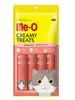 MeO Creamy Treats For Cat and Kitten Salmon Flavor