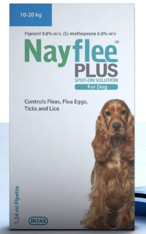 Intas Nayflee Plus Spot-ON Solution for Dogs